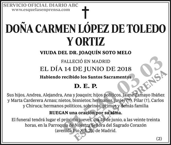Carmen López de Toledo y Ortiz